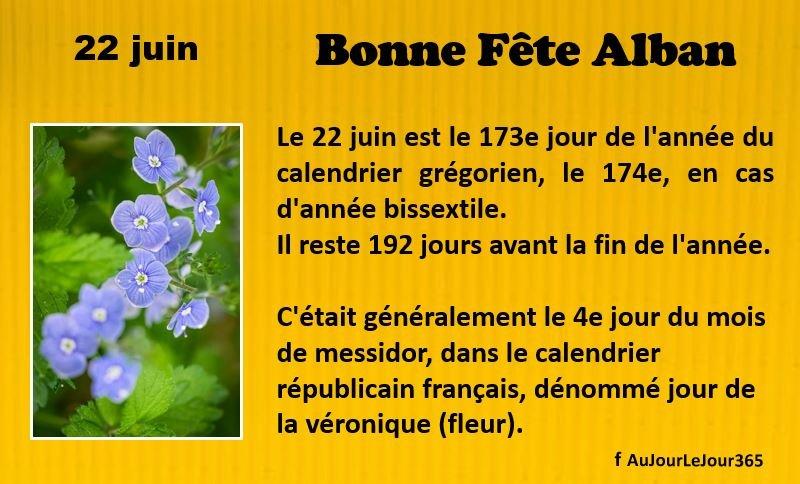 Bonne fête Alban