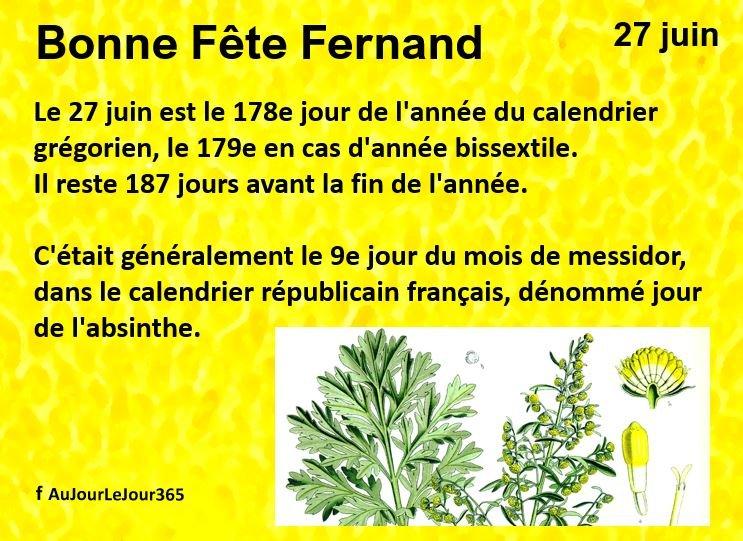 Bonne fête Fernand