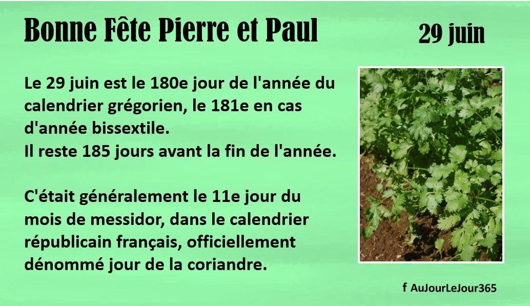 Bonne fête Pierre et Paul