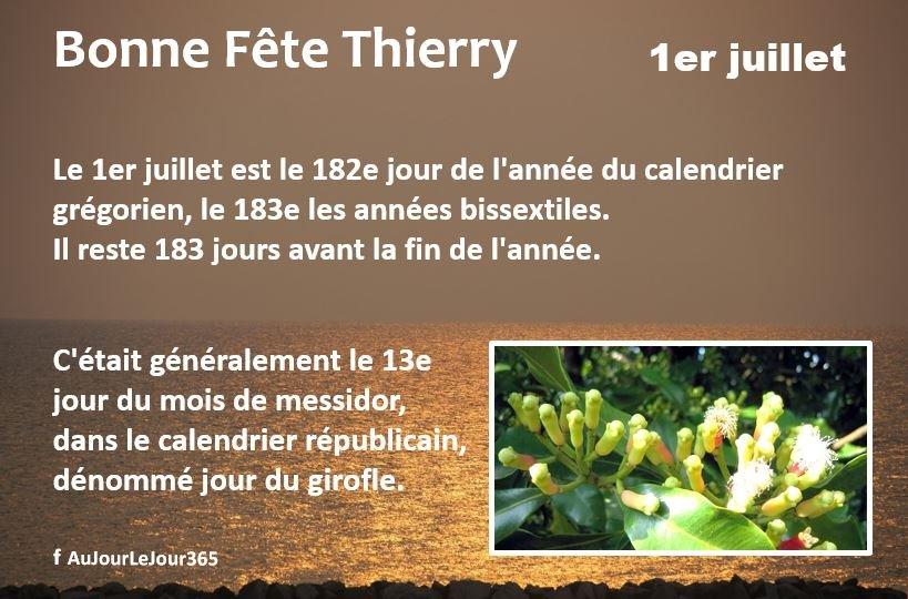 Bonne fête Thierry