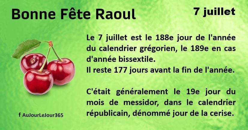 Bonne fête Raoul