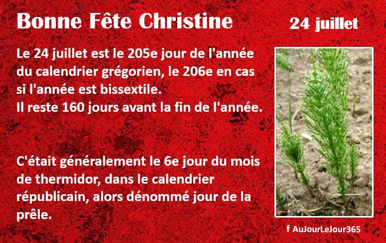 Bonne fête Christine