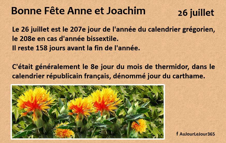 Bonne fête Anne Joachim