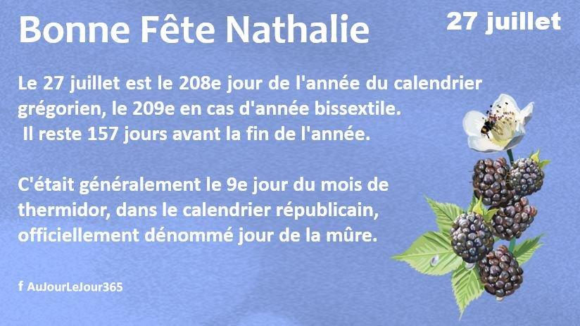 Bonne fête Nathalie