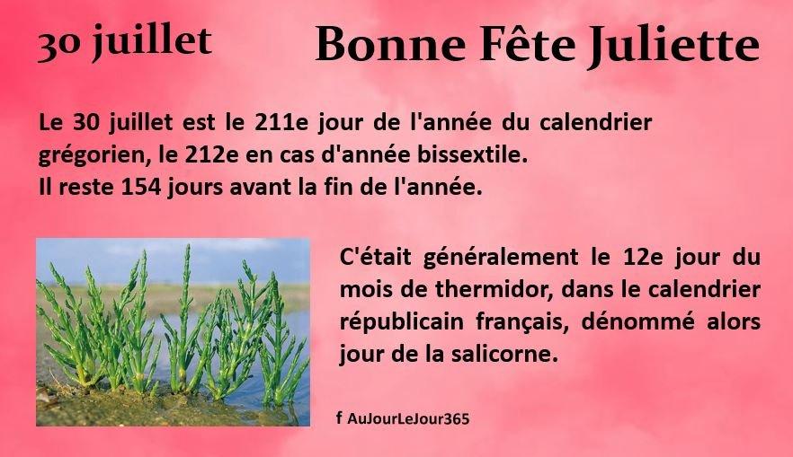 Bonne fête Juliette