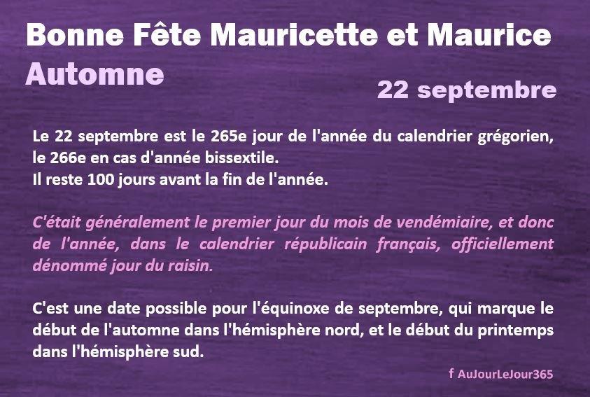 Bonne fête Maurice