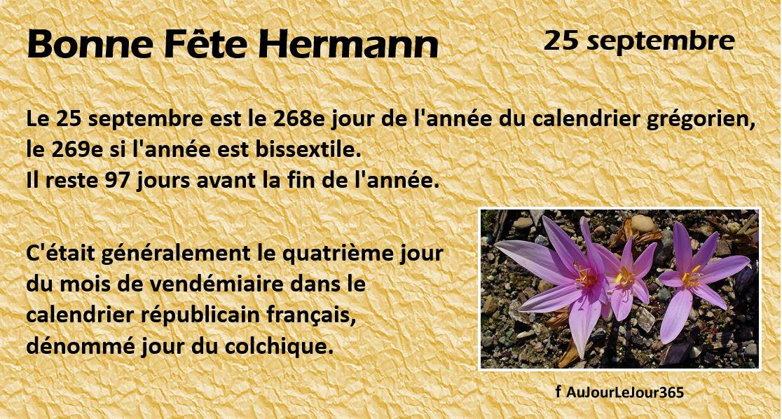 Bonne fête Hermann