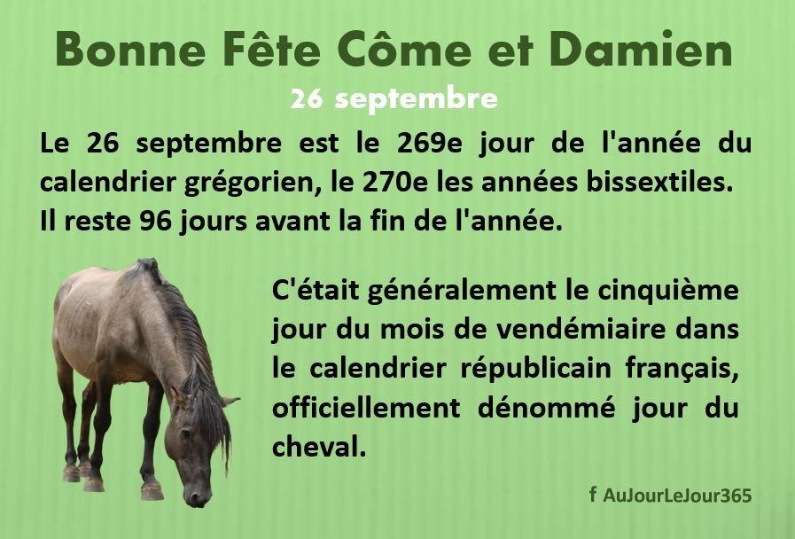 Bonne Fête Côme et Damien